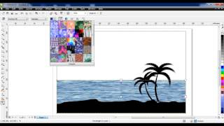 How to draw Sea shore in Coreldraw
