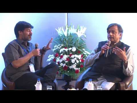 Shashi Tharoor in conversation with Samir Saran during India US Strategic Partnership meet