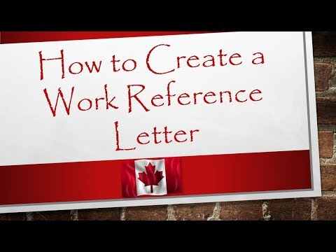Work Reference Letter Format | Canada Immigration