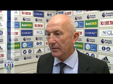 Tony Pulis reacts to Albion's 0-0 draw with Middlesbrough