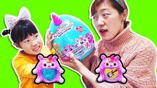 착한일을 하면 요정님께 선물을 받아요!! 유니의 스팽글 인형 레인보우콘 서프라이즈 캡슐 핑크퐁놀이 RainboCorns Hide & Seek Toy for kids - Romiyu