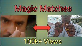 Magic Trick Matches Tamil | How to light matches like Rajini style | Petta Match Box stick