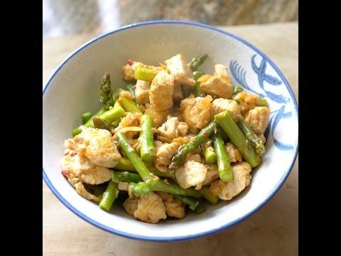 Asparagus & Chicken Stir Fry Easy, Quick and Healthy!