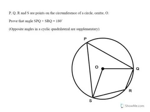 Opposite angles in a cyclic quadrilateral add up to 180 youtube opposite angles in a cyclic quadrilateral add up to 180 ccuart Choice Image
