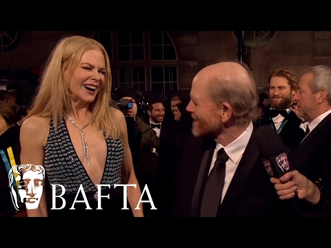 Nicole Kidman Surprises Ron Howard During Red Carpet Interview | BAFTA Film Awards 2017