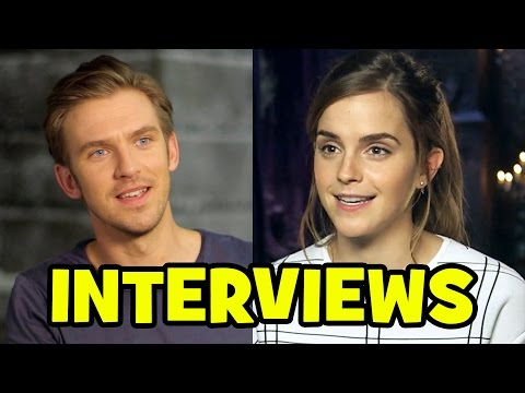BEAUTY AND THE BEAST 2017 Trailer Launch Interviews - Emma Watson, Dan Stevens, Luke Evans