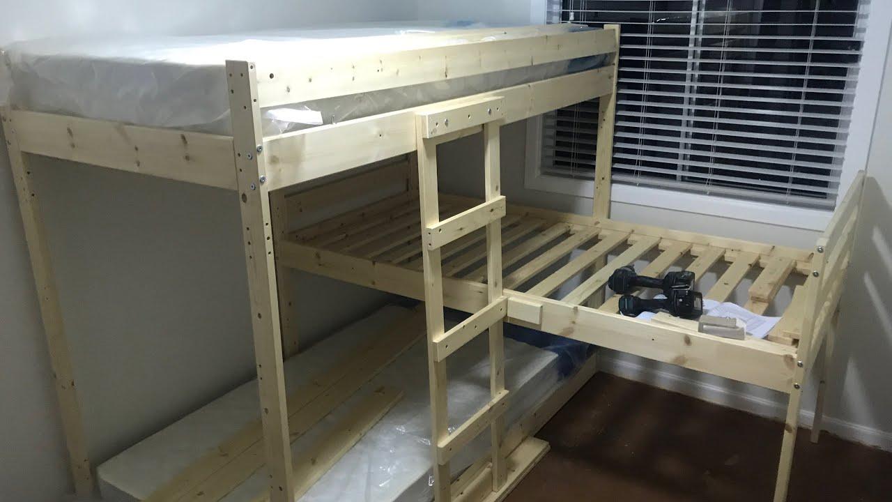 Triple Bunk Beds Ikea Hackers Mydal Range Youtube