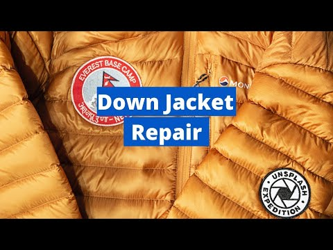 The Best Way To Fix Ripped Down Jacket | NO VISIBLE STITCHING/PATCH
