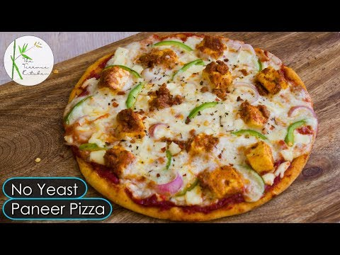 No Oven No Yeast Paneer Pizza | Paneer Pizza Without Yeast ~ The Terrace Kitchen