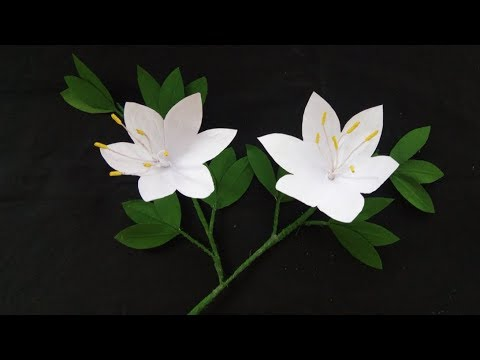 How To Make Paper Flower! Orchid | Flower Craft Ideas | DIY: