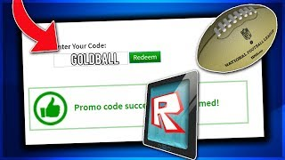 [ROBLOX PROMO CODE] NEW WORKING PROMO CODES ON ROBLOX 2019 FOR GOLDEN FOOTBALL (NOT EXPIRED!)