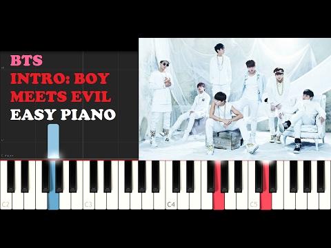 BTS - Intro: Boy Meets Evil (EASY Piano Tutorial)