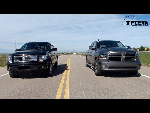 2013 Ram 1500 Vs Ford F 150 Drag Race Burnout Mega Pickup Mashup
