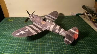 P 47 Thunderbolt papercraft