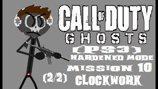 Call Of Duty Ghosts (PS3) Mission 10 - Clockwork (Hardened Mode) (2/2)