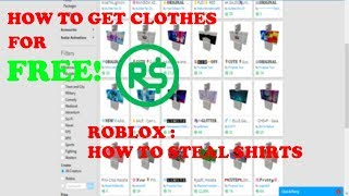 How To Steal Shirts/Pants/T-shirts On ROBLOX!