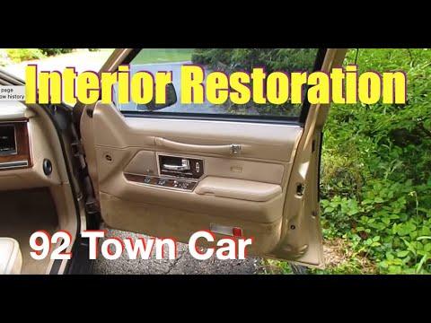 Interior Restoration 1992 Lincoln Town Car