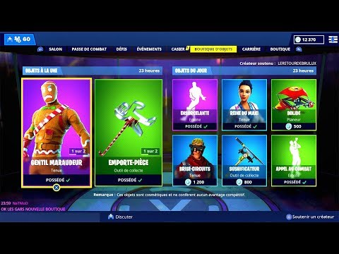 BOUTIQUE FORTNITE du 22 Décembre 2018 ! ITEM SHOP December 22 2018
