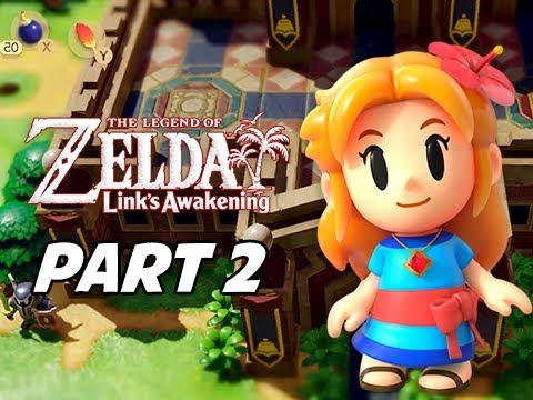 The Legend Of Zelda Link S Awakening Walkthrough Gameplay Part 2 Kanalet Castle Nintendo Switch