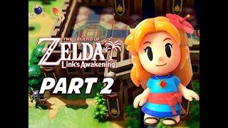 The Legend of Zelda Link's Awakening Walkthrough Gameplay Part 2 - Kanalet Castle (Nintendo Switch)