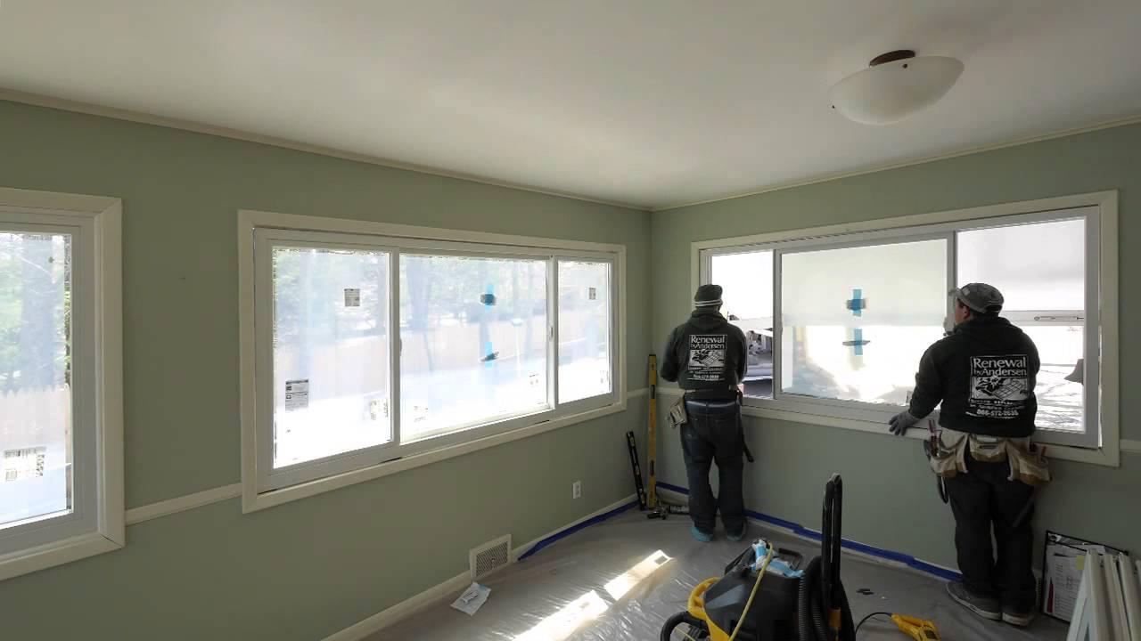 Old Jalousie Windows Replaced with New Sliding Windows - Shelter Island,  Long Island, NY