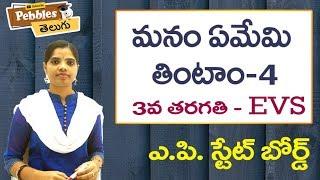 Manam Emi Thintam (Part-4) 3rd Class EVS-Telugu Video Lessons |  A.P Telugu Syllabus
