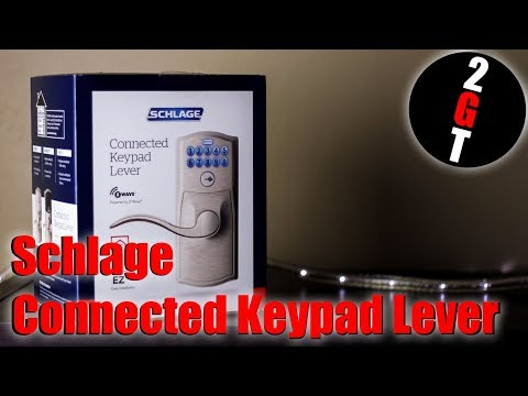 schlage-connected-keypad-lever-install-&-review