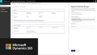 How to report a production outage in Dynamics 365 Business Central