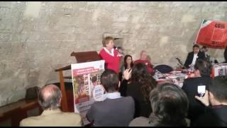 Susanna Camusso all'Assemblea generale Cgil BAT a Barletta