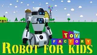 Fábrica de juguetes - Robots para niños | robot de dibujos animados para niños | robot de videos para niños
