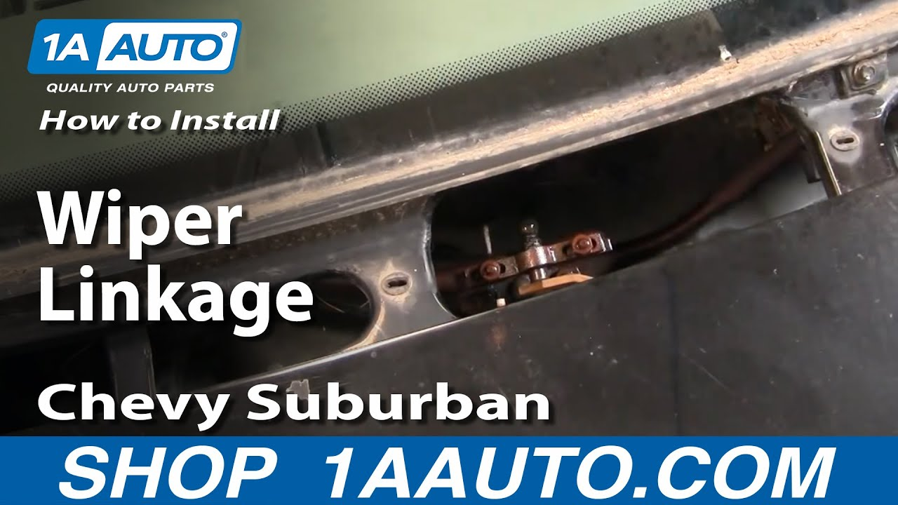 How To Replace Wiper Linkage 88 99 Chevy Suburban Youtube