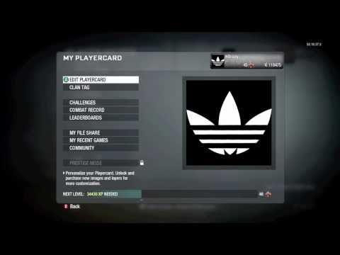 CoD Black Ops Emblem Tutorial Adidas Logo
