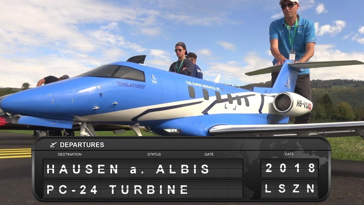 PC-24 R/C SCALE AIRPLANE TWIN-TURBINE POWERD PILATUS BUSINESS JET