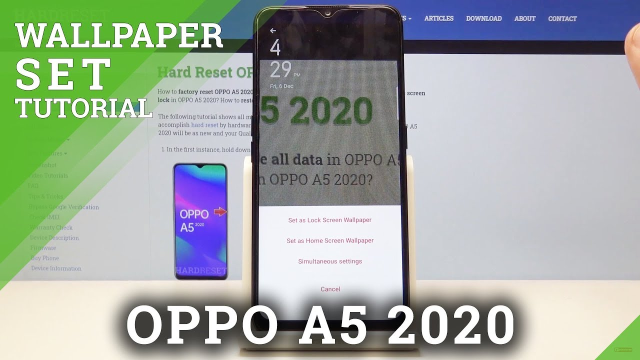How To Change Wallpaper In Oppo A5 2020 Set Up Home Lock