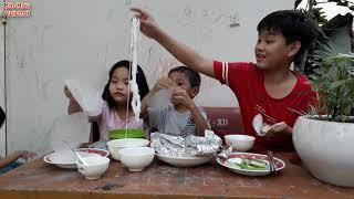 Cá Sa Ba nướng giấy bạc cuốn Bánh Tráng//ẩm thực.
