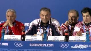 Сочи-2014. Пресс-конференция сборной России по хоккею.