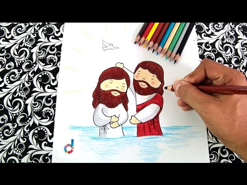 Cómo dibujar el Bautismo de Jesús | How to draw The Baptism of Jesus ...