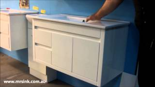 900mm Shadowline Slimline Wall Hung Vanity Unit