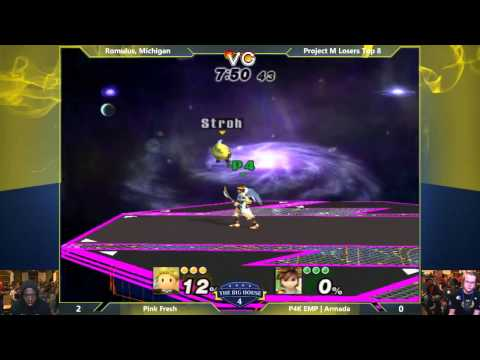 TBH4 - Pink Fresh (Lucas) vs Armada (Pit) - Project M Losers Top 8 - Smash PM