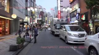 Japan Trip 2014 Tokyo Cycling Evening Shinjuku MOA 3rd st to Kabukichō