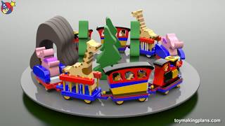 Wood Toy Plans - Scroll Saw Animal Train