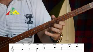 Tembûr - Bagleme - wane 2   تعليم التمبور و البغلما الدرس 2