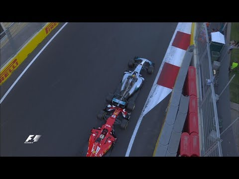 Hamilton & Vettel Come To Blows | 2017 Azerbaijan Grand Prix