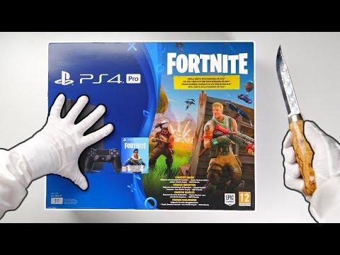 PS4 FORTNITE CONSOLE UNBOXING! Playstation 4 Pro Fortnite Battle Royale Bundle + Bomber Skin