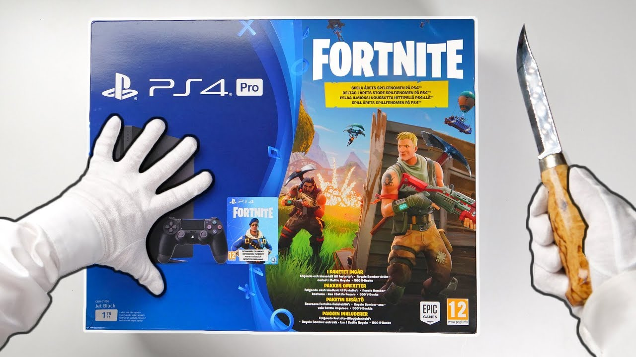 Ps4 Fortnite Console Unboxing Playstation 4 Pro Fortnite Battle
