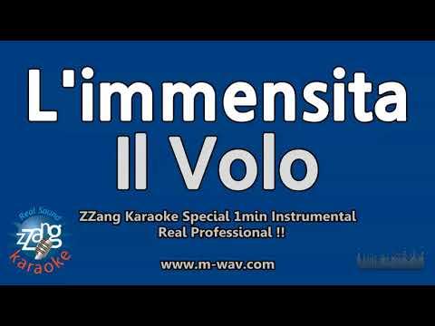 Il Volo-L'immensita (1 Minute Instrumental) [ZZang KARAOKE]