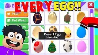 Opening ONE of *EVERY EGG EVER* in Adopt Me! (Dream Pet Luck)