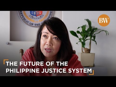 Chief Justice Sereno on the future of the Philippine justice system