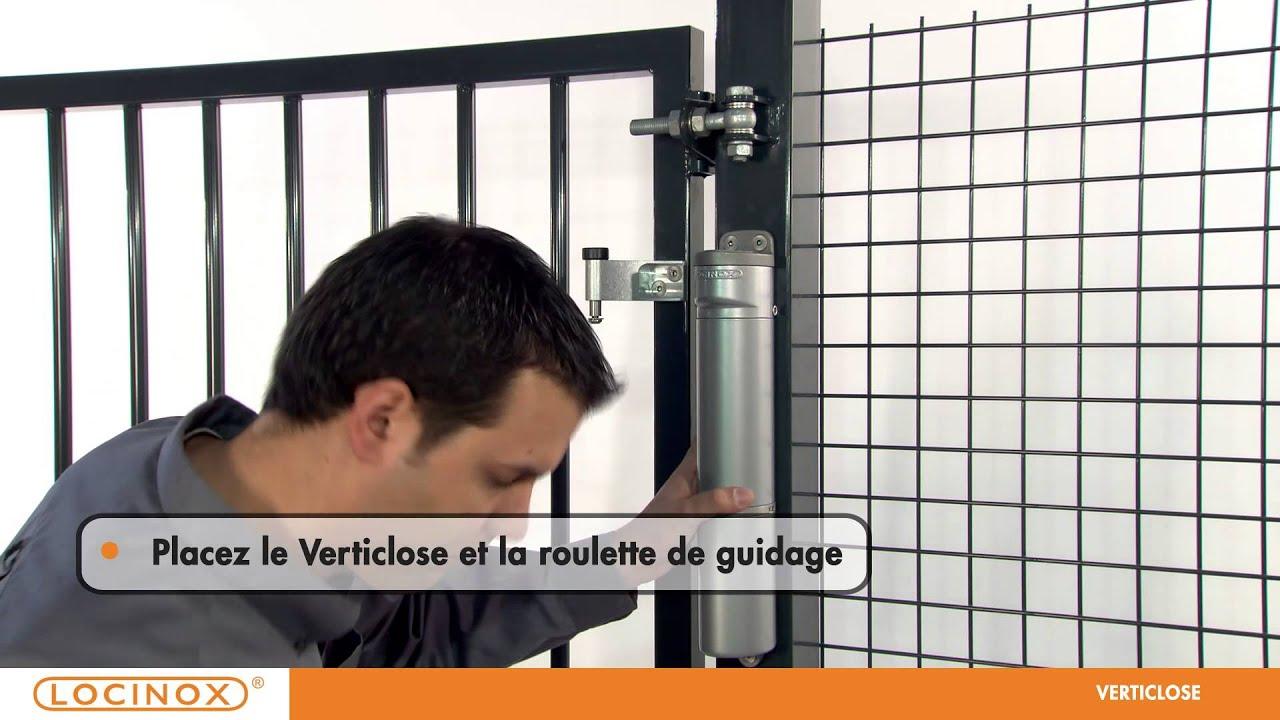 locinox verticlose ferme porte r glable youtube. Black Bedroom Furniture Sets. Home Design Ideas