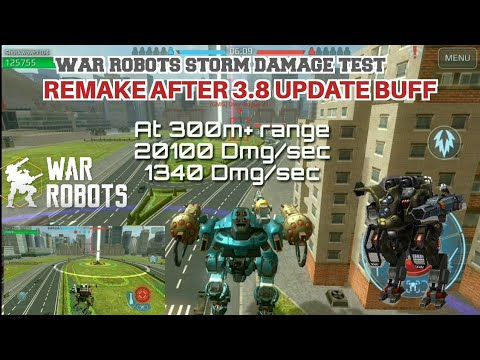 Optimum Range for Storm,Damage Comparison test (War Robots) || Remake after 3.8 update buff